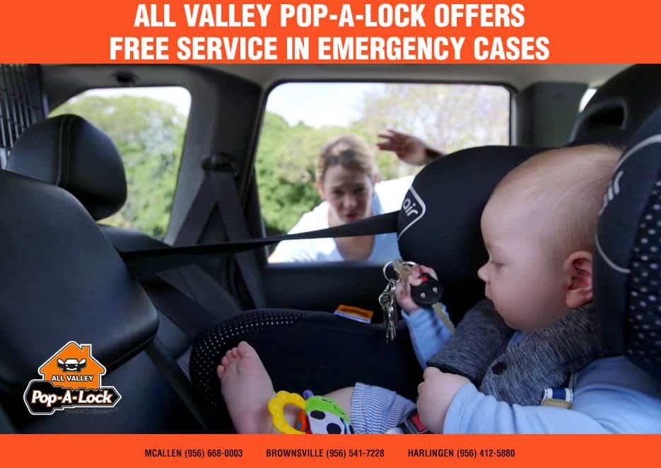 FREE Emergency Car Door Unlocking - Emergency Car Door Unlocking - Fact: More children die of heatstroke from being locked in a car than are killed by forward-moving accidents which are a senseless tragedy.